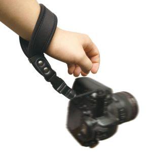 camera polsriem zwart neopreen