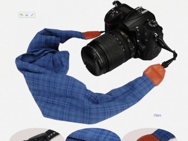 Camera strap blue